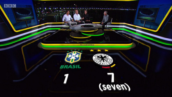Brasil Germany on BBC