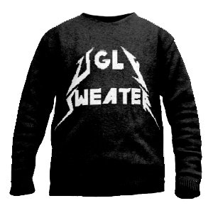 Metallica font knit sweater