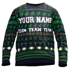 Custom football sweater team name