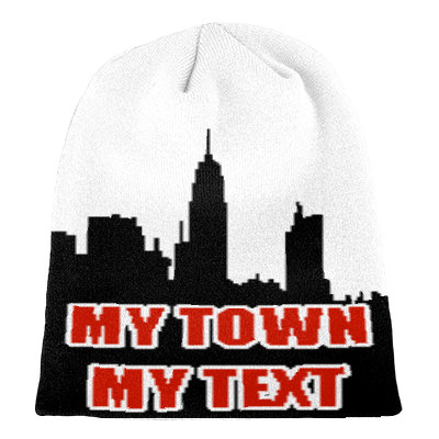 Custom beanie - My town, my text