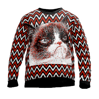 Grumpy cat sweater knitted