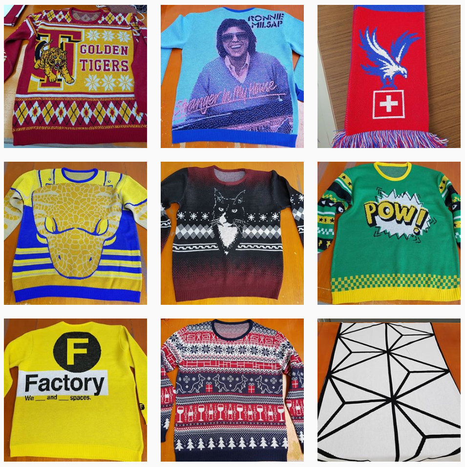 Custom sweaters and other knitwear