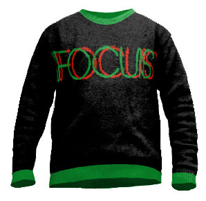 Focus sweater knitted