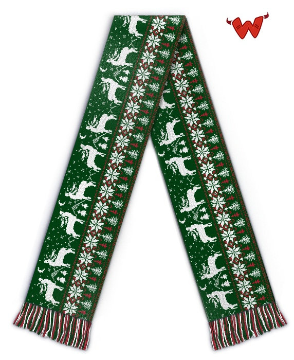 Christmas football scarf