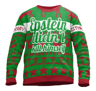 Epstein Christmas sweater