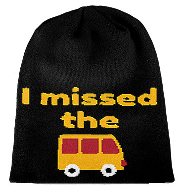 Beanie I missed the bus