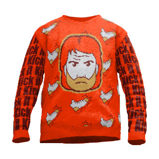 chuck norris action sweater
